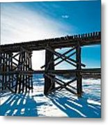 Old Rail Tressel Metal Print by Gerald Murray Photography