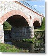 Old Railway Bridge In Silute. Lithuania. Summer Metal Print