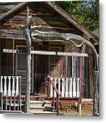 Old Ranch Cabin In Antique Color 3008.02 Metal Print