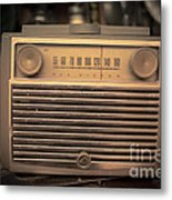 Old Rca Victor Antique Vintage Radio Metal Print