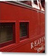 Old Reading Rr Caboose In Lititz Pa Metal Print
