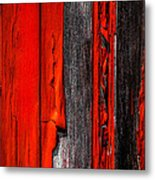 Old Red Barn Four Metal Print