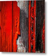 Old Red Barn One Metal Print