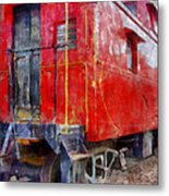 Old Red Caboose Metal Print