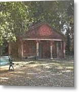Old Red House In Lal Bag Metal Print