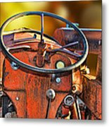 Old Red Tractor Ford 9 N Metal Print