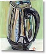 Old Reliable Stainless Steel Coffee Perker Metal Print by Jennie Traill Schaeffer