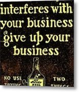 Old Reliable Whiskey Vintage Art Metal Print