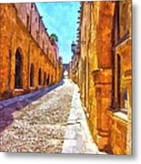The Old Rhodes Town Metal Print