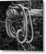 Old Rope Metal Print