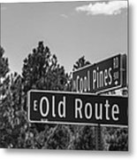 Old Route 66 And Cool Pines Metal Print