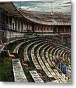 Old Ruined Stadium Metal Print