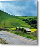 Old Rural Road On The Way To Heavenly Lands Metal Print