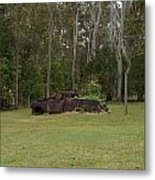 Old Rusted Truck Metal Print