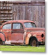 Old Rusty Car Metal Print