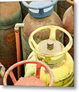 Colorful Fire Extinguishers Metal Print