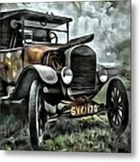 Old Rusty Metal Print
