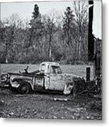 Old Rusty Gmc Pickup Metal Print