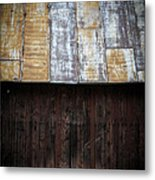 Old Rusty Tin Roof Barn Metal Print by Edward Fielding