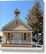Old Sacramento California Schoolhouse 5d25541 Metal Print by Wingsdomain Art and Photography