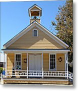 Old Sacramento California Schoolhouse 5d25544 Metal Print