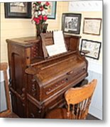 Old Sacramento California Schoolhouse Piano 5d25783 Metal Print by Wingsdomain Art and Photography
