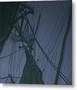 Old Sailing Ship Reflected Metal Print