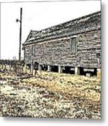 Old Salted Building Metal Print