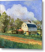 Old Saunders Barn Metal Print by Jeff Brimley