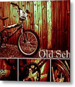 Old School Bmx - Pk Collage Colour Metal Print