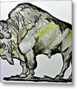 Old School Buffalo Metal Print