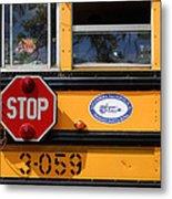 Old School Bus 1 Metal Print