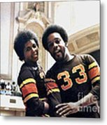 Old School Roller Derby With Delores Tucker And Alvin Mallory Of The San Francisco Bay Bombers Metal Print