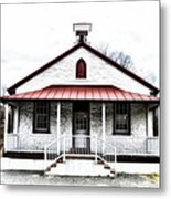 Old Schoolhouse Chester Springs Metal Print