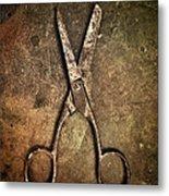 Old Scissors Metal Print