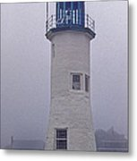 Old Scituate Light Tower Metal Print