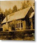 Old Sepia Photo Old Farmhouse H A Metal Print