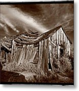 Old Shack Bodie Ghost Town Metal Print