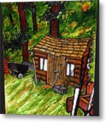 Old Shed Shed Metal Print by Ryan Lee