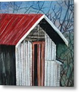 Old Shed Metal Print by Shirley Shepherd