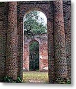 Old Sheldon Ruins Archway Metal Print