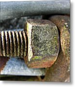 Old Silo Stave Bolt Metal Print