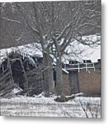 Old Snowy House Metal Print