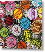 Old Soda Caps  Metal Print by Tim Gainey