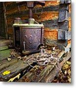 Old Sorghum Press Metal Print by Debra and Dave Vanderlaan