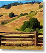 Old Split Rail Fence Metal Print by Michael Pickett