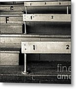 Old Stadium Bleachers Metal Print