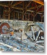 Old Stamp Mill In Berlin Nv Metal Print
