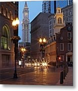 Old State House And Custom House In Boston Metal Print