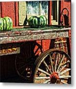 Old Station Cart Metal Print